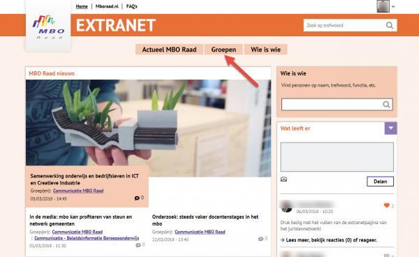 Extranet home