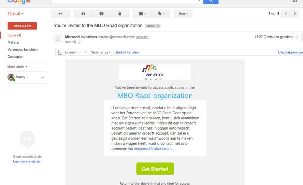 gmail Microsoft invitation