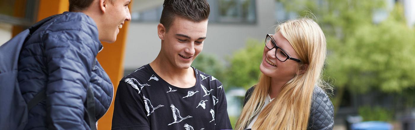 Afbeelding scholieren ROC de Leijgraaf
