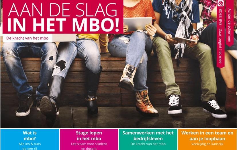 Afbeelding van brochure Aan de slag in het mbo