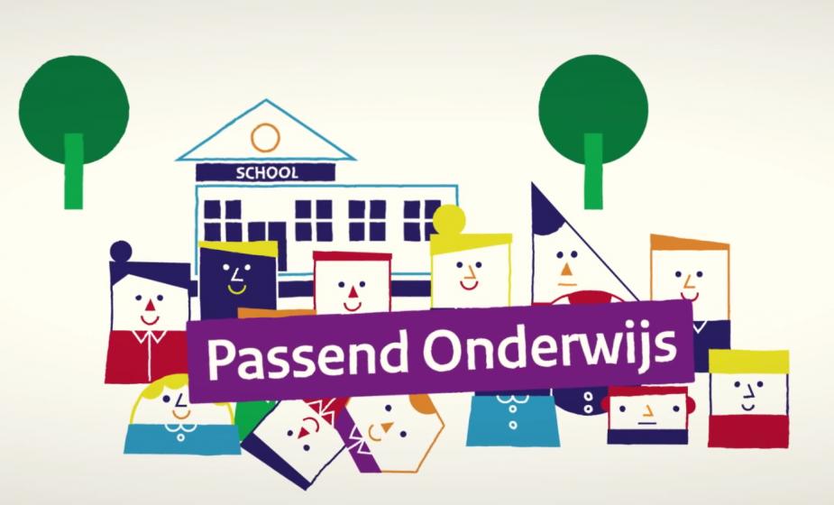 Passend onderwijs - afbeelding uit animatie passend onderwijs Rijksoverheid