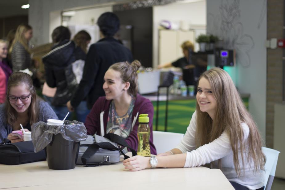 Studenten op het ROC Rivor