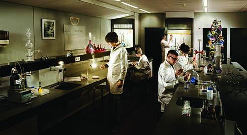 Studenten op het Friesland College