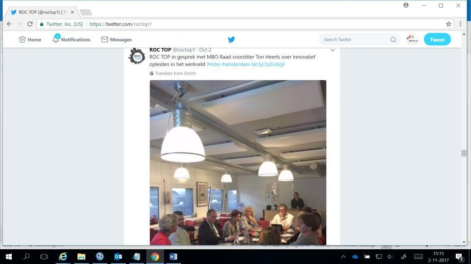 Tweet ROC Top bezoek 2 okt 2017 ZWS