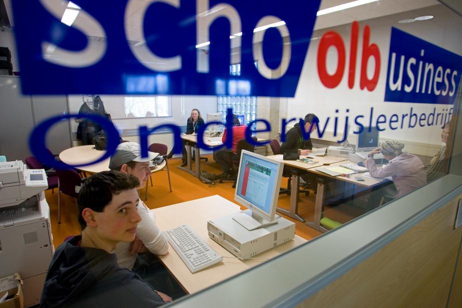 Afbeelding van studenten op het Friesland College/Maartje Roos