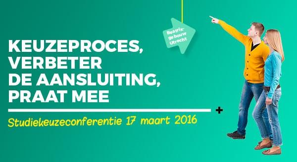 Banner Studiekeuzeconferentie 2016