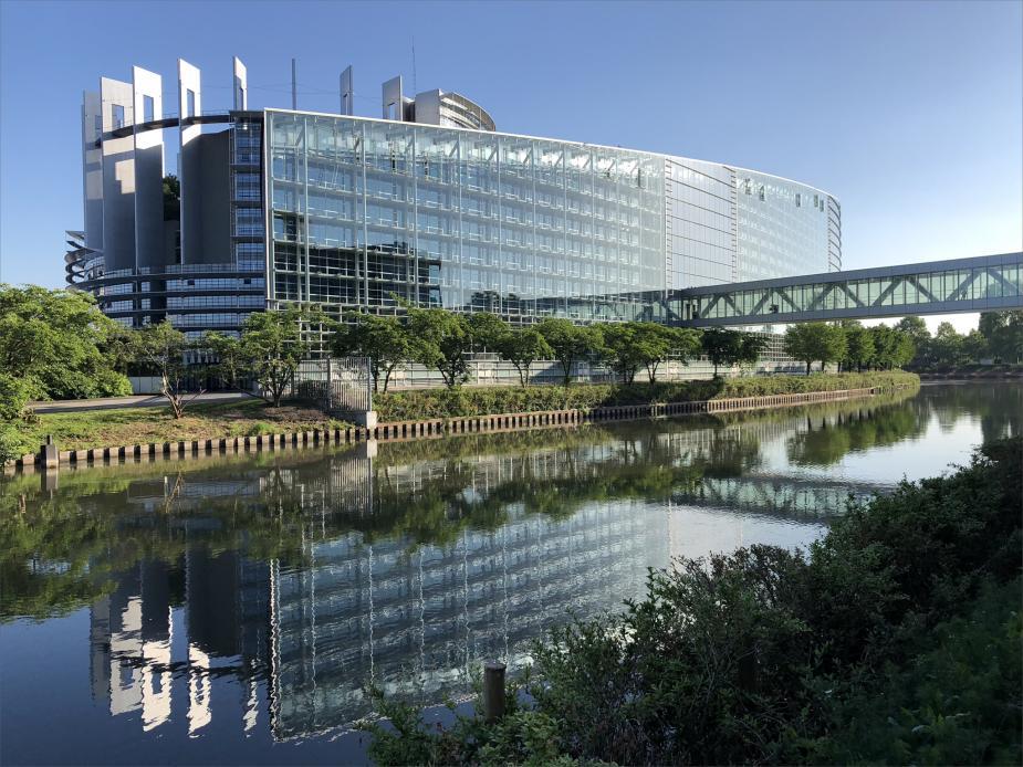 Afbeelding van Europees Parlement in Straatsburg. Flickr.com, CC-licentie, Europees Parlement