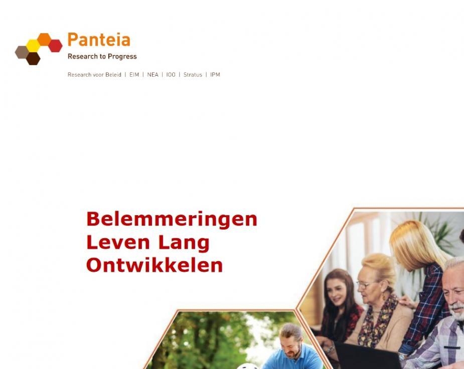 Afbeelding van rapport Panteia over belemmingen leven lang ontwikkelen