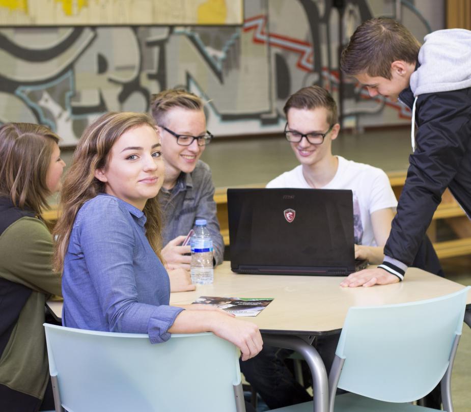 Studenten van het ROC Rivor
