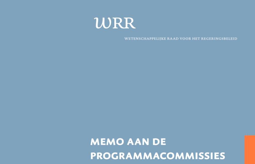 WRR - Memo aan de programmacommissies