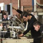Afbeelding van studenten van het Friesland College (Maartje Roos)