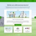 Afbeelding van de website valideexamenproducten.nl