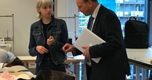 schoolbezoek Mondriaan mode