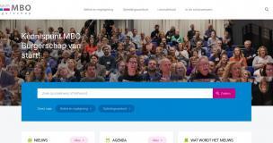 Afbeelding van de website Kennispunt MBO Burgerschap